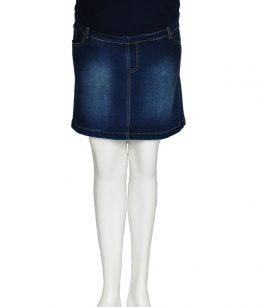 Denim skirt-front